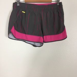 Lolë Grey and Pink Running Shorts w/ liner